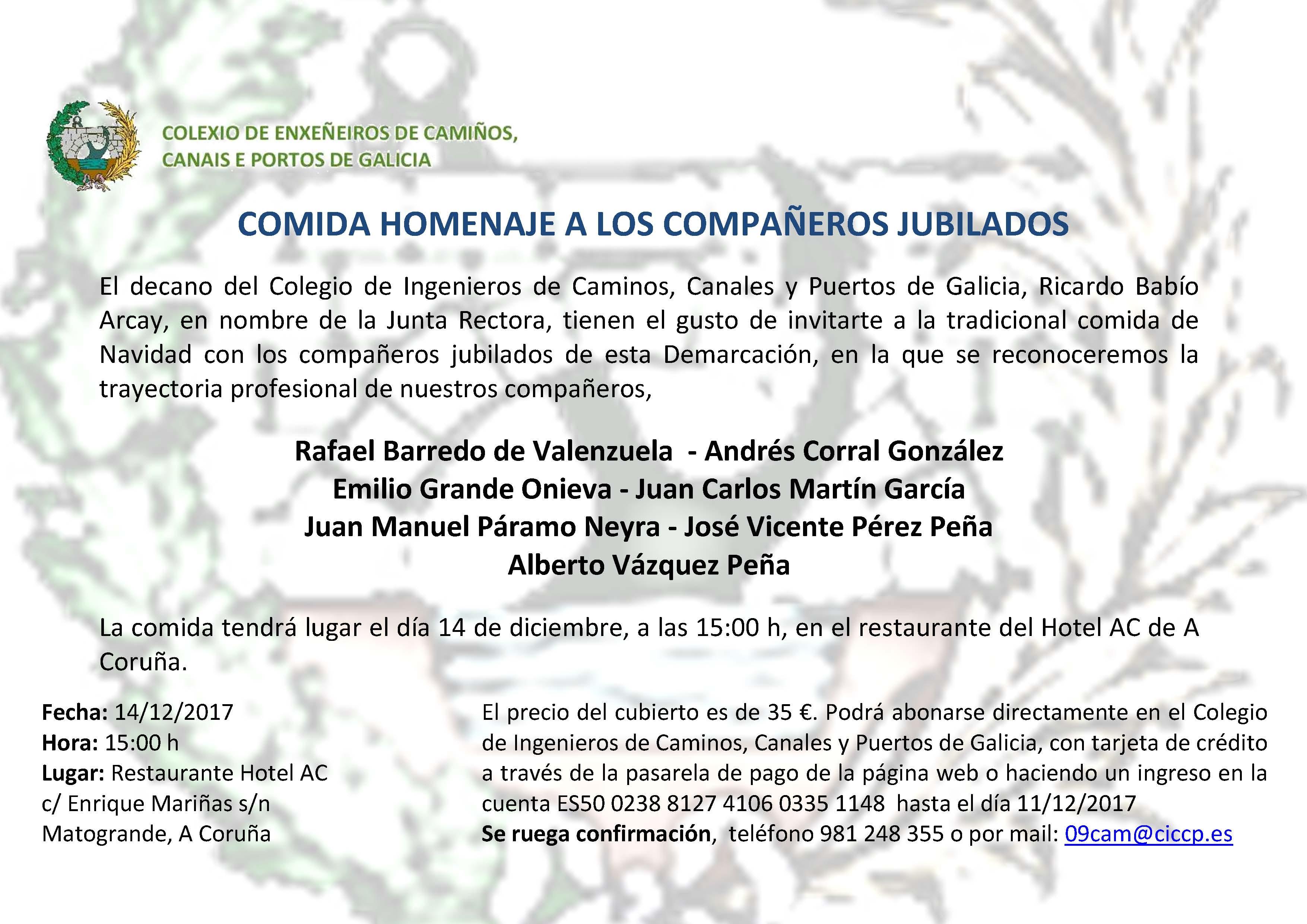 Comida Homenaje A Los Compañeros Jubilados Colexio De